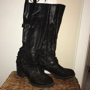 MIA Tall Black Boots Heel Size 8.5